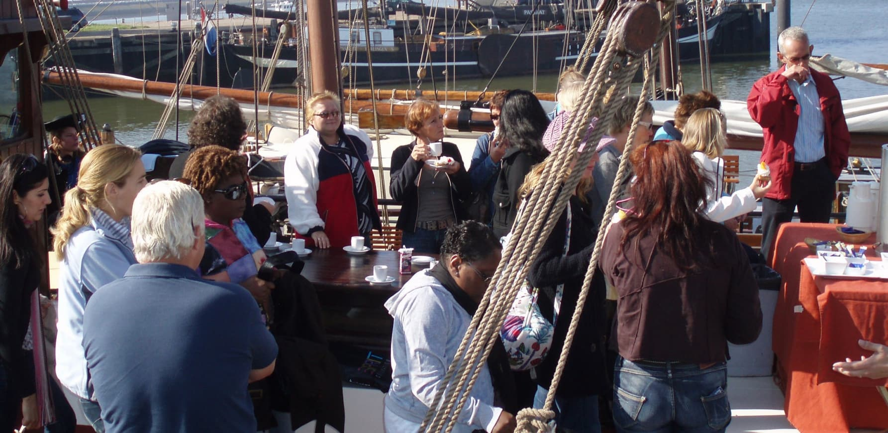 Boot feest in Friesland