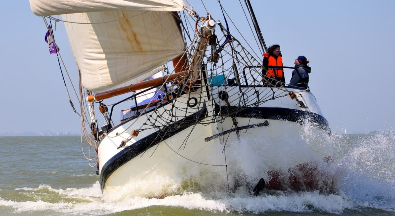 zeilboot eendracht naar schiermonnikoog